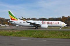Impacto fatal de Ethiopian Airlines Boeing 737-8 max fotos de stock