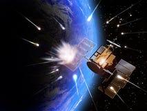 Impactos del meteorito stock de ilustración
