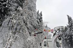Impacts de la chute de neige importante photographie stock libre de droits