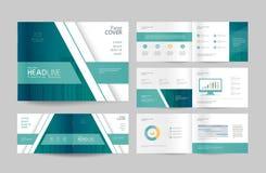 Impaginazione del modello e di progettazione dell'opuscolo di affari per il profilo aziendale Immagini Stock Libere da Diritti