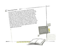 Impaginazione, icona del libro inclusa (illustrazione semplice) Fotografie Stock Libere da Diritti