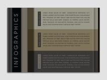 Impaginazione moderna di Infographic Fotografia Stock