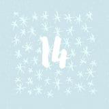 Impagini Advent Calendar i 25 giorni del Natale con spazio per testo Fotografie Stock