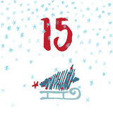 Impagini Advent Calendar i 25 giorni del Natale con spazio per testo Fotografia Stock Libera da Diritti