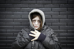 Impaired girl street stock photos
