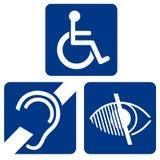 Impaired Symbols Stock Photo