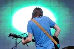Impala docile, bande psychédélique, représentation au festival 2013 de bruit de Heineken Primavera Images libres de droits