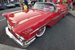 Impala vermelha do Lowrider Fotografia de Stock Royalty Free