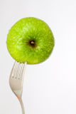 Impaled with fork Royalty Free Stock Photo