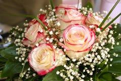 Impallidisca il mazzo nuziale rosa delle rose Fotografie Stock Libere da Diritti