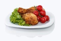 Impanare le coscie di pollo immagine stock libera da diritti