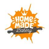 Impani il negozio, forno, progettazione domestica dell'emblema dell'etichetta di logo dell'iscrizione di cottura della panetteria royalty illustrazione gratis
