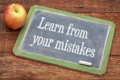 Impari dai vostri errori fotografie stock libere da diritti
