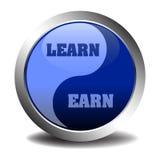Impari e guadagni il simbolo Immagine Stock
