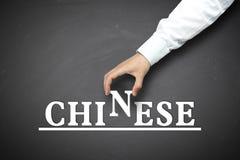 Impari il cinese fotografia stock