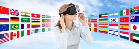 Impari il concetto della tecnologia di lingue in futuro Fotografia Stock Libera da Diritti