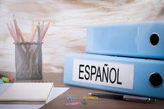 Impari il concetto spagnolo fotografia stock libera da diritti