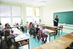 Impari la biologia a scuola Fotografia Stock