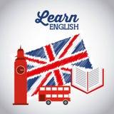Impari la progettazione di inglese Immagini Stock Libere da Diritti