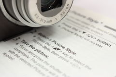 Impari la vostra macchina fotografica Fotografia Stock