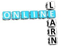 Impari le parole incrociate online Fotografia Stock Libera da Diritti