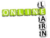 Impari le parole incrociate online Fotografia Stock