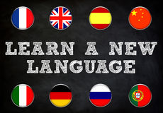 Impari una nuova lingua Fotografia Stock