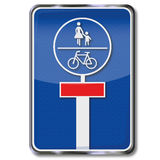 Impas dla bicykli/lów i pedestrians Zdjęcia Stock