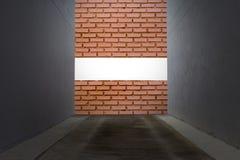 Impas z ścianą z cegieł obraz royalty free