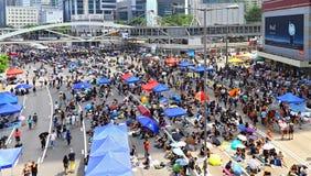 Impasse de protestataires chez amirauté, Hong Kong Photos libres de droits