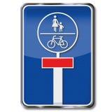 Impasse pour des bicyclettes et des piétons Photos stock