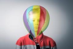 Head in the balloon stock photos