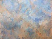 Impastowa Błękitna i Dębna tło tekstura Fotografia Royalty Free