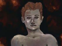 Impastowy Mężczyzna - Cyfrowego Obraz ilustracji