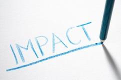 Impatto fotografie stock