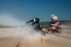 Impatto della corsa di motocross Immagini Stock