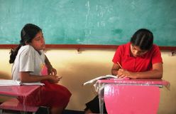 Impatto di povertà su istruzione in povere vicinanze in Cuba Fotografia Stock Libera da Diritti