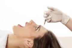 Impaurito di botox Fotografia Stock