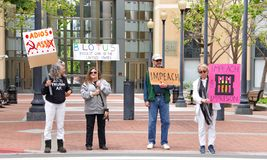 Impeach President Trump protest rally in Oakland, CA