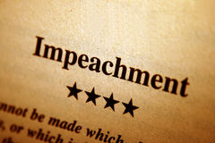 Impeachment Stock Image