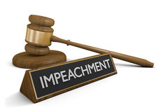 Impeachment law concept for charging officials in government office, 3D rendering Royalty Free Stock Images