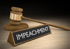 Impeachment law concept for removal of presidents or government officials, 3D rendering Royalty Free Stock Photo