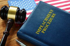 Free Impeachment Procedure Law, Gavel And USA Flag Royalty Free Stock Photography - 159602507