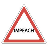 Impeachment road sign Royalty Free Stock Photo