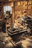 Impedimenti fatti del legno del pioppo manufacturing immagine stock