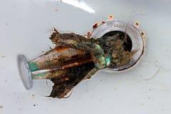 Impedimento del tappo dello scolo di lavandino Fotografia Stock Libera da Diritti