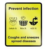 Impedisca il segno di infezione royalty illustrazione gratis