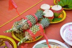 Impegno degli accessori per nozze tailandesi Fotografia Stock Libera da Diritti