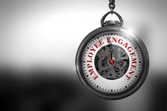 Impegno degli impiegati sull'orologio d'annata illustrazione 3D fotografia stock