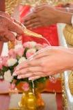 Impegno tailandese di cerimonia di nozze. Immagine Stock